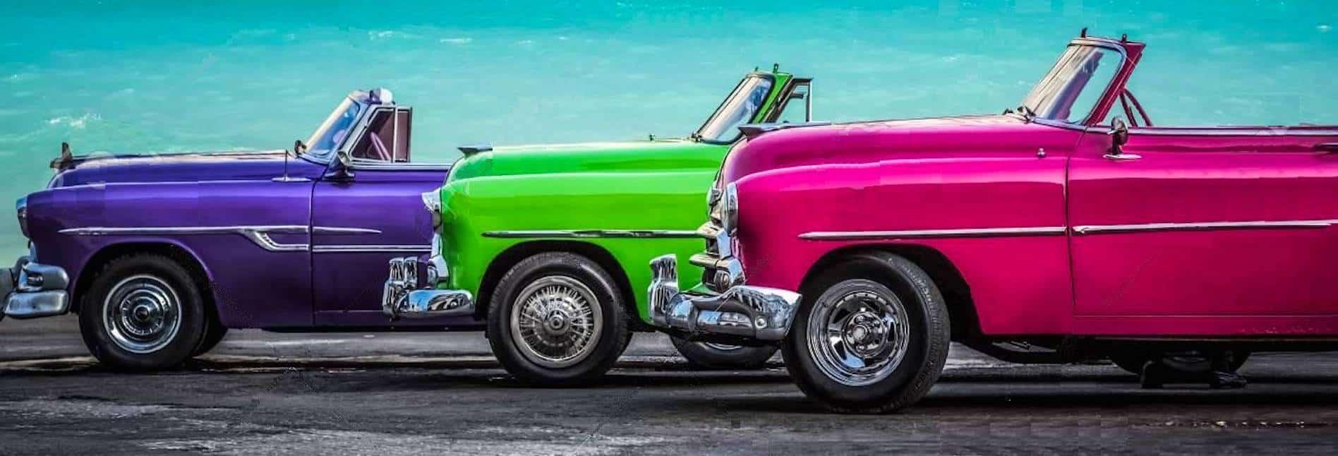 Antique Convertible Cars Cuba